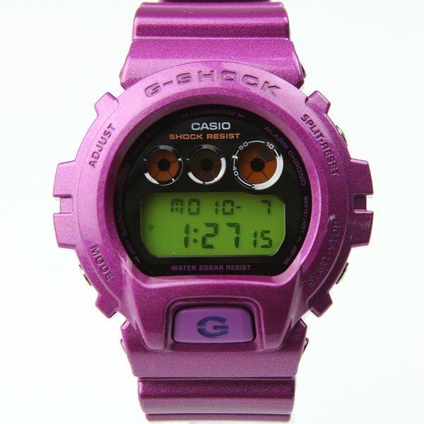Casio Men's DW-6900NB-4DR G-shock Round Purple Resin Strap Watch
