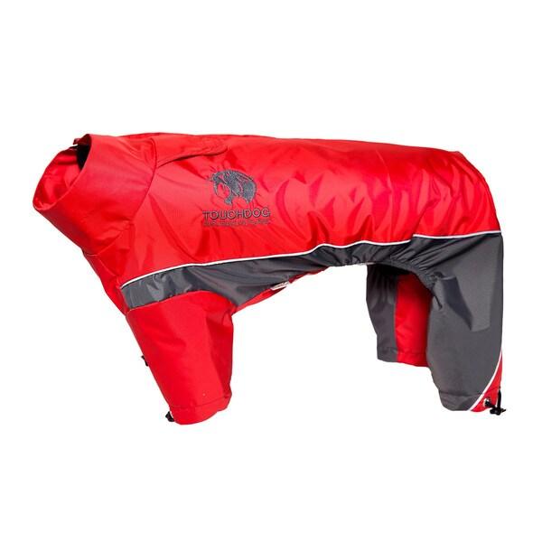 Touchdog Quantum-ice Full-bodied 3m Reflective Dog Adjustable Jacket with Blackshark Technology