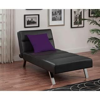 DHP Studio Black Chaise Lounger