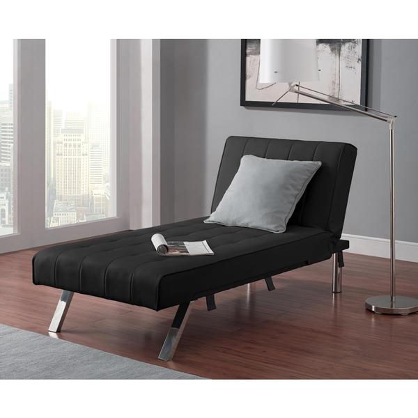Dhp emily twin size chaise lounger 17429184 overstock for Overstock furniture and mattress houston