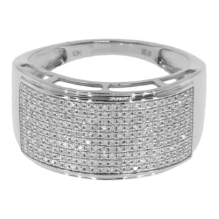 Sterling Silver 3/5ct TDW Pave Diamond Ring (G-H, I2-I3)