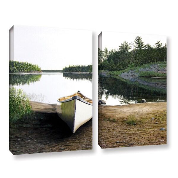 ArtWall Ken Kirsh 'Silent Retreat 1' 2 Piece Gallery-wrapped Canvas Set - Multi 15737153