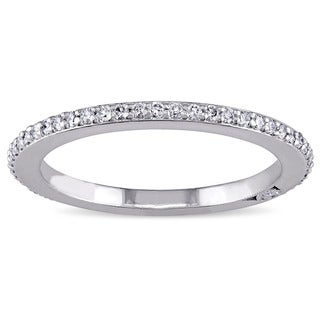 Miadora Signature Collection 18k White Gold 1/3ct TDW Diamond Eternity Ring (G-H, SI1-SI2)