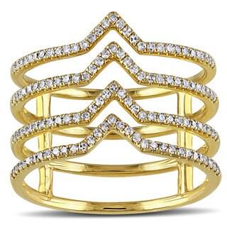 Miadora 14k Yellow Gold 1/3ct TDW Diamond Ring (G-H, SI1-SI2)