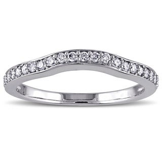 Miadora 14k White Gold 1/4ct TDW Diamond Wedding Band (G-H, I1-I2)
