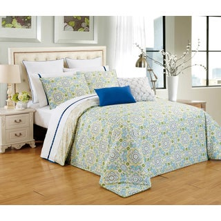 Couture Home Collection Lilliana Reversible Elegant Floral 3-piece Duvet Cover Set