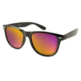 Urban Eyes Men's/ Unisex Wayfarer Flash Rectangular Sunglasses