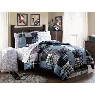 Mason Reversible Plaid 9-piece Bed in a Bag Set