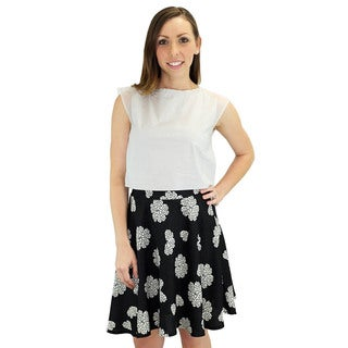 Relished Women's Lucy Black Swing Skirt