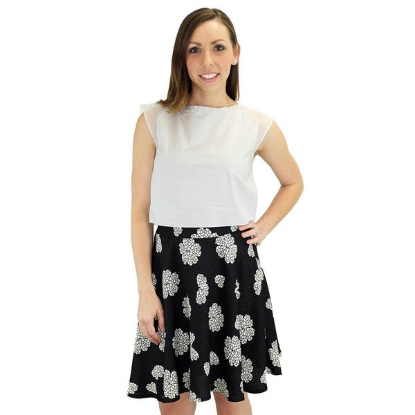 Women's Lucy Black Swing Skirt