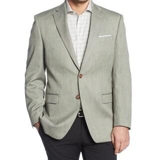 Men's Designer Black Basket Weave Sport Coat