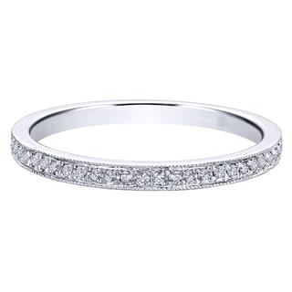 14k White Gold 1/7ct TDW Diamond Wedding Band (H-I, I1-I2) (Size 5.5)