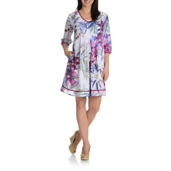 La Cera Women's Printed Tunic Dress
