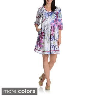 La Cera Women's Printed Tunic Dress