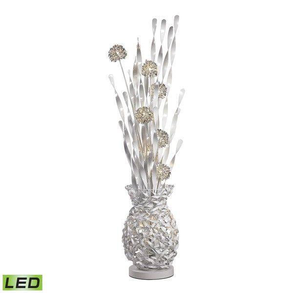Dimond Calico Contemporary Floral Display Silver Floor Lamp