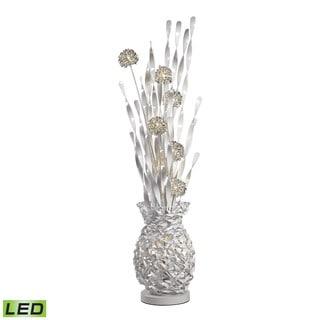 Dimond Calico Contemporary Floral Display Silver Floor Lamp