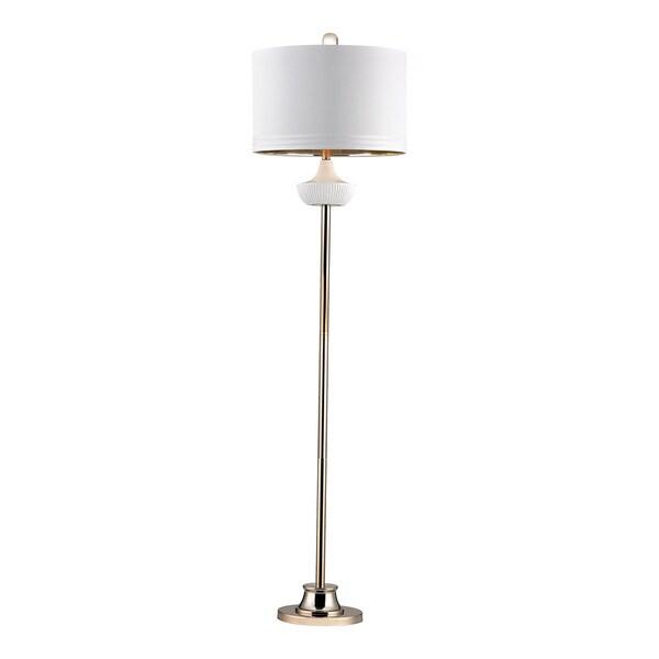 Dimond White Ribbed Cube Floor Lamp