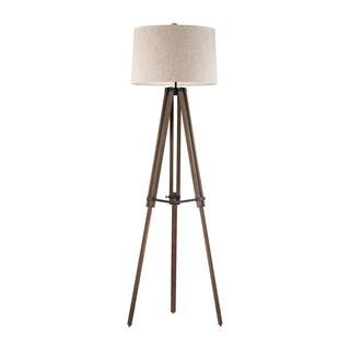 Dimond Wooden Brace Tripod Floor Lamp