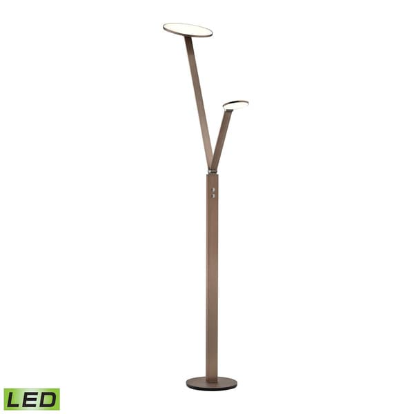 Dimond Grey Double Disc Floor Lamp
