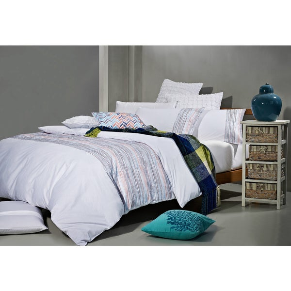 Egyptian Cotton Unusual Scribbles 7-piece Duvet Cover Set (As Is Item)