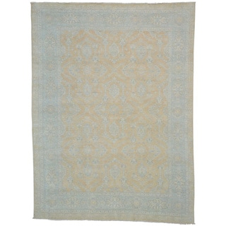 Sultanabad Hand Knotted 100 Percent Wool Oriental Rug (9' x 11'9)