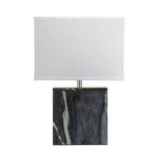 Dimond Grey Marble Square Table Lamp