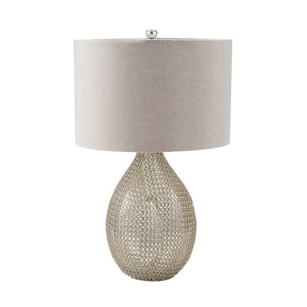 Dimond Chain Mail Raindrop Silver Mercury Table Lamp