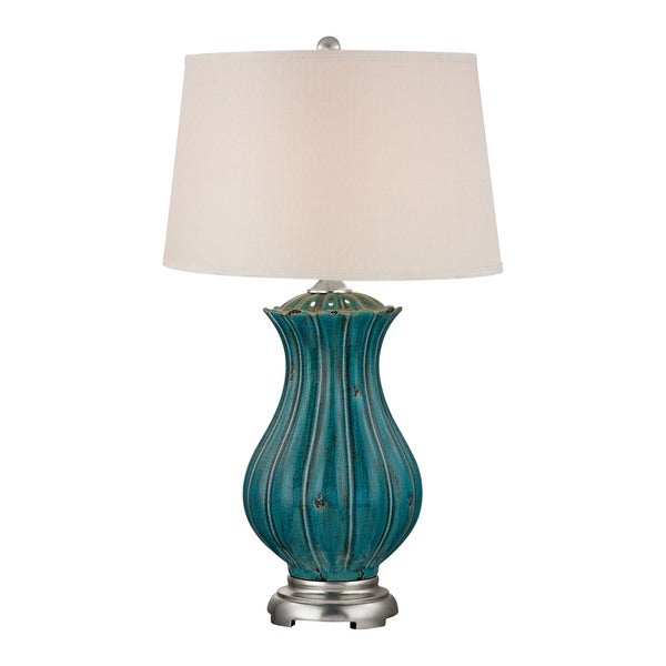 Dimond Pewsey Oversized Ceramic Distressed Dark Teal Table Lamp