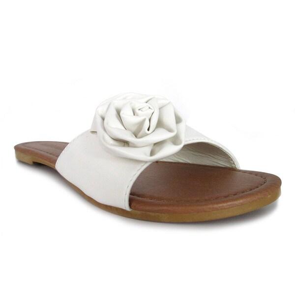 Olivia Miller 'Rosa' Floral Rose Slide Sandals
