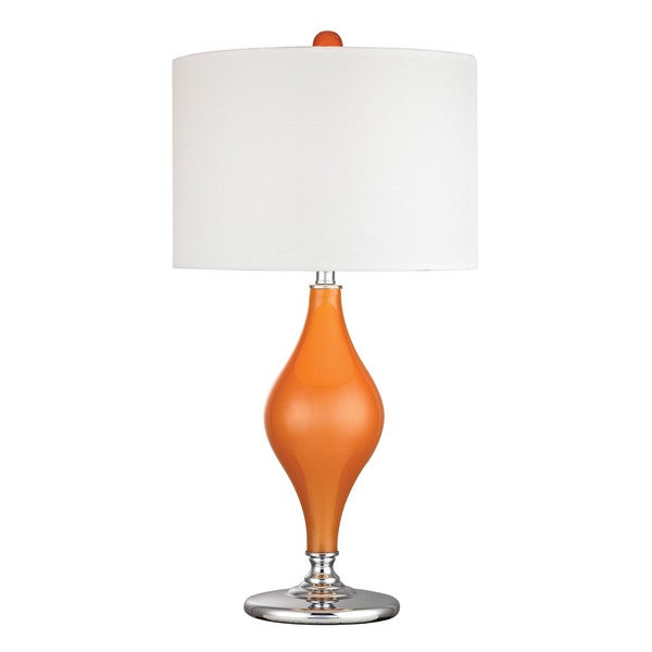 Dimond Tilbury Glass Tangerine Orange Table Lamp