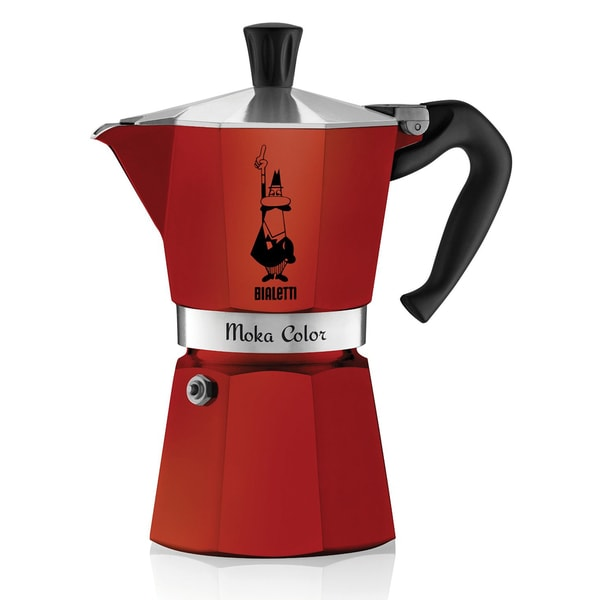 Bialetti 06905 Moka Express 6-Cup Stovetop Percolator (Red)