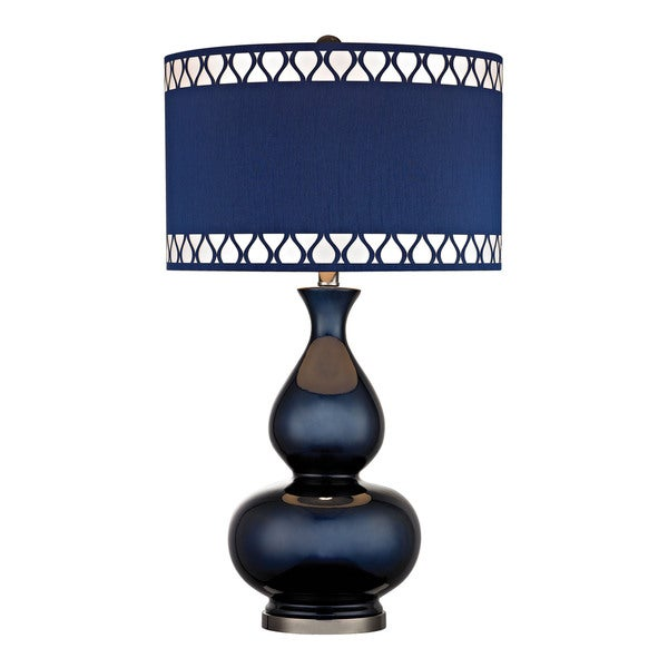 Dimond Heathfield Glass Navy Blue Table Lamp