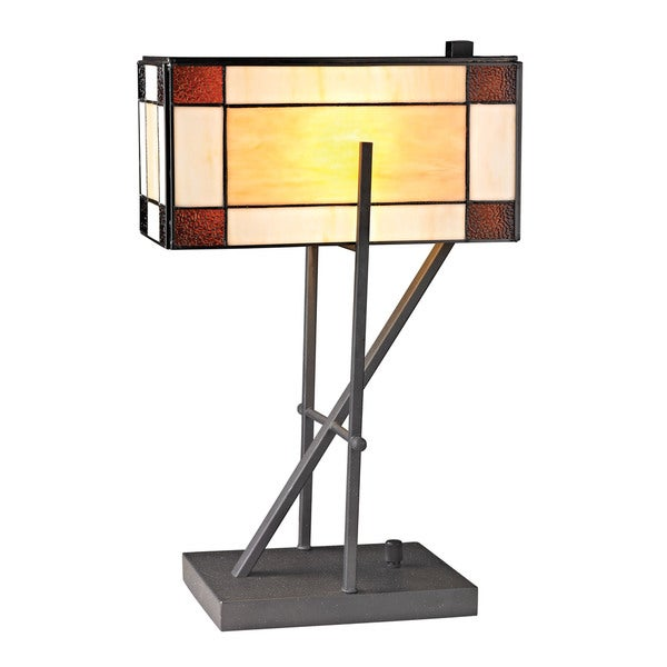 Dimond Fort William Tiffany Glass Matte Black Table Lamp
