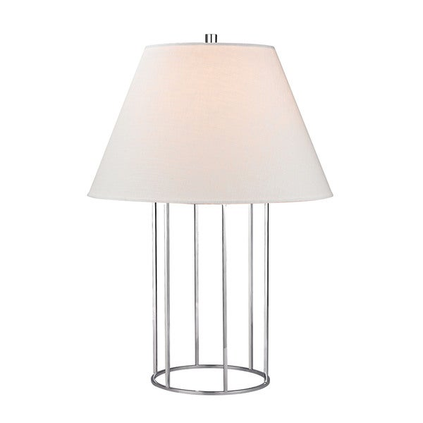 Dimond Barrel Frame Polished Chrome Table Lamp