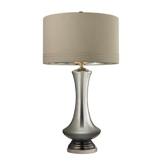 Dimond Tie Dye Silver Mercury Bronze Table Lamp