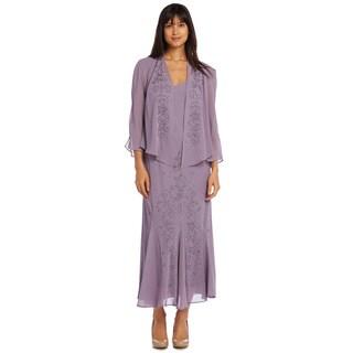 R&M Richards Chunky Bead Jacket Dress