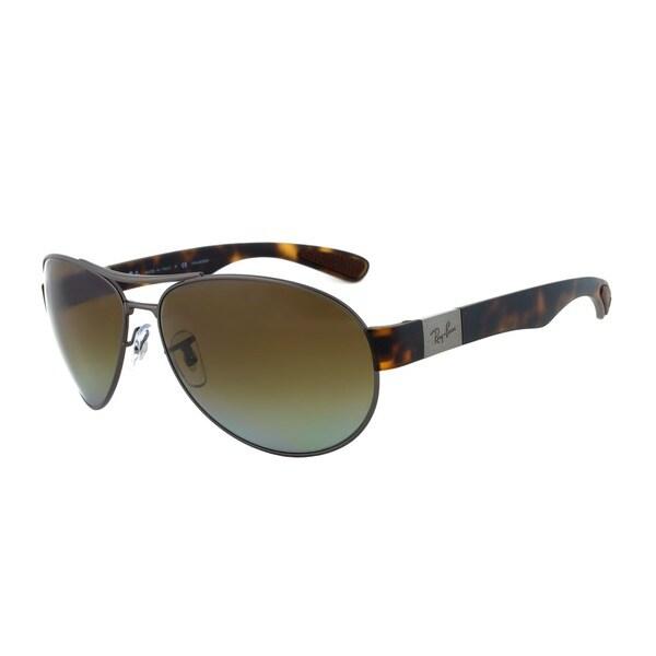 Ray-Ban RB 3509 029/T5 Polarized Aviator Sunglasses - Gunmetal Frame