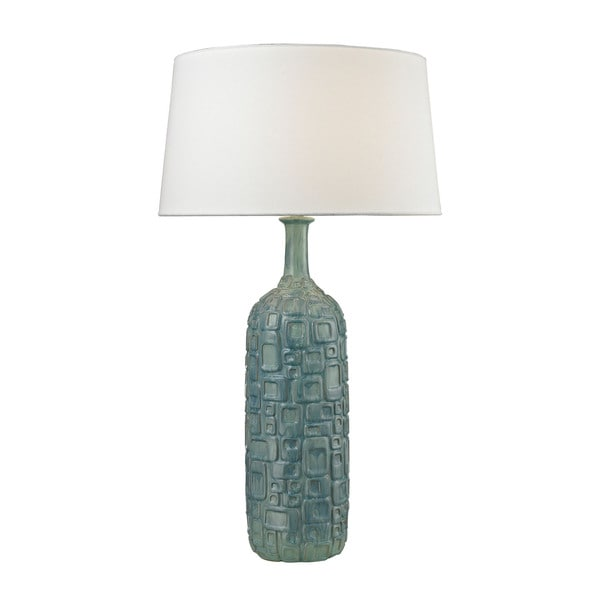 Dimond Cubist Ceramic Bottle Blue Lamp