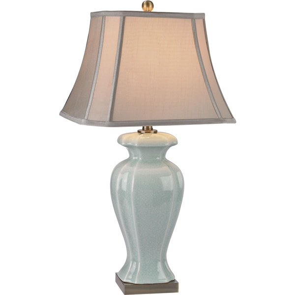 Dimond Celadon Glazed Green Ceramic Antique Brass s Table Lamp