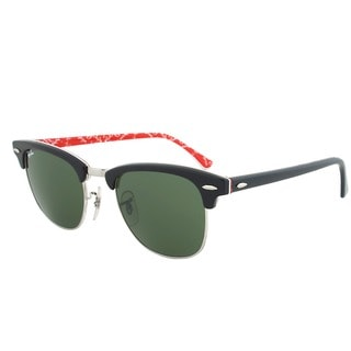 Ray-Ban RB 3016 1016 Clubmaster Sunglasses - Black and Silver Frame