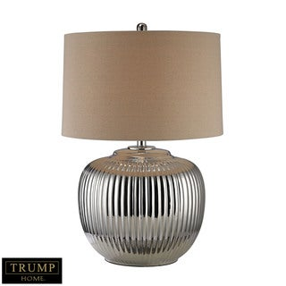 Dimond Trump Home Oversized Ribbed Ceramic Silver Table Lamp