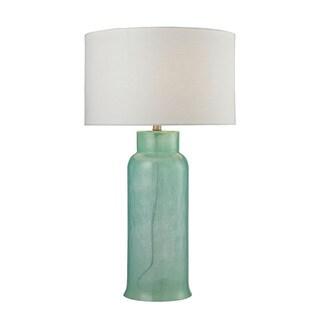 Dimond Glass Bottle Seafoam Green Table Lamp