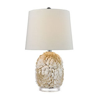 Dimond Natural Shell Off-white Linen Shade Table Lamp