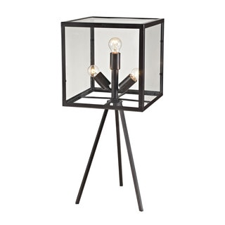 Dimond Workshop Glass Cube Aged Bronze Table Lamp