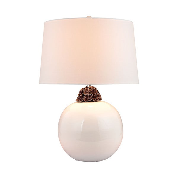 Dimond Embellished Neck Ceramic Lamp