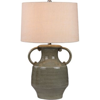 Dimond Glazed Amphora Lamp