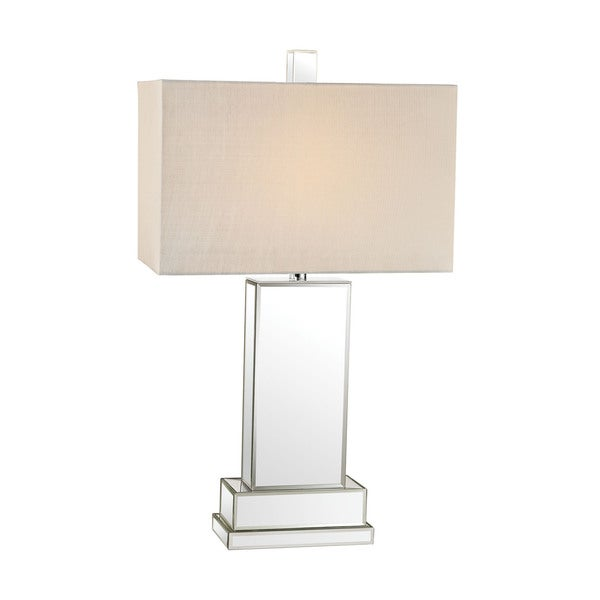 Dimond Mirror Block Table Lamp