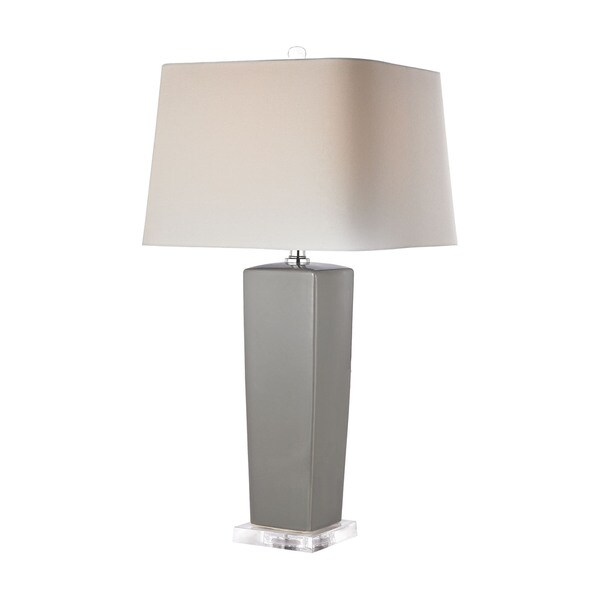 Dimond Tapered Grey Ceramic Lamp