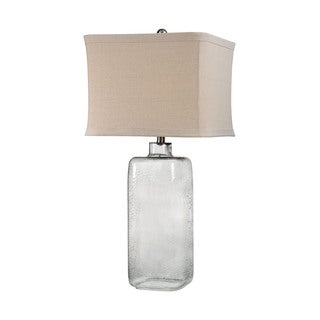 Dimond Hammered Grey Glass Lamp