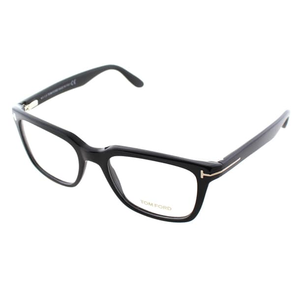 Tom Ford Mens FT 5304 001 Black Square Eyeglasses
